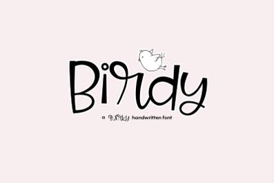 FREE Birdy - A Quirky Handwritten Font