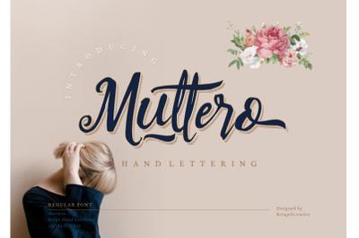 FREE Muttero Font