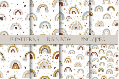FREE Cute Rainbow Patterns