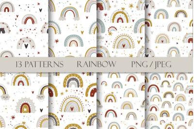 FREE Cute Rainbow Patterns