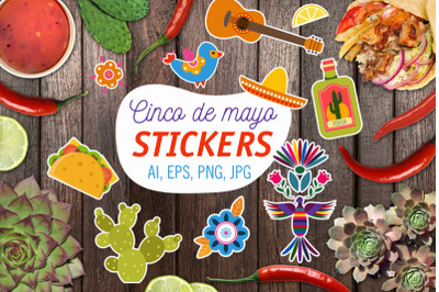 FREE Cinco De Mayo Stickers
