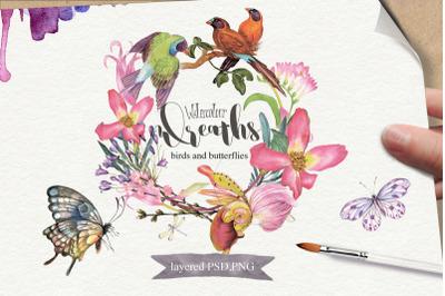 FREE Watercolor Wreaths