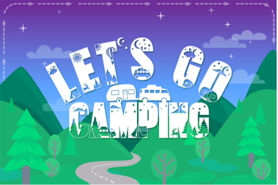 FREE Let's Go Camping Font - Camping & Hiking Font
