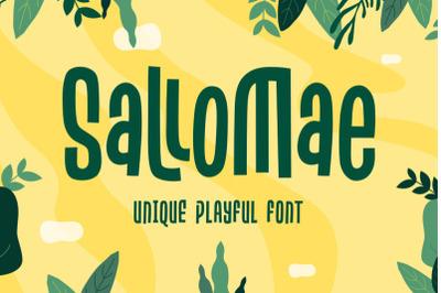 FREE Sallomae - Playful Font