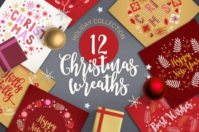 FREE 12 Christmas Wreaths