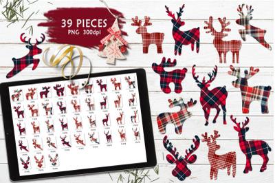 FREE Christmas Deer Silhouettes