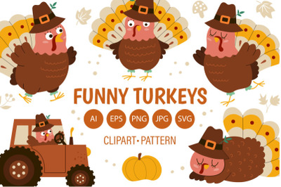 FREE Funny Turkeys