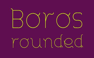 FREE Boros Rounded Font