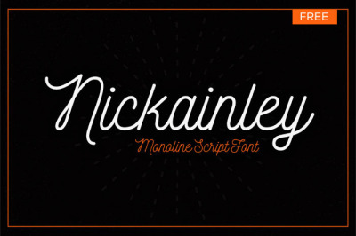 FREE Nickainley Font