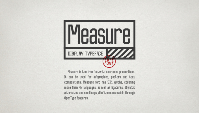 FREE Measure Typeface