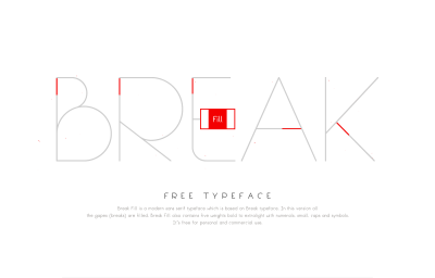 FREE Break Fill Typeface