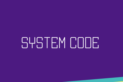 FREE System Code Font