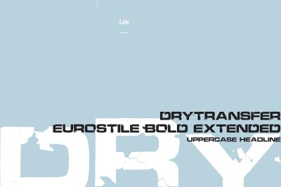 FREE Dry Transfer Eurostile Bold Extended