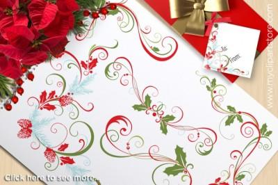 Free Christmas Decorative / Flourish Swirls