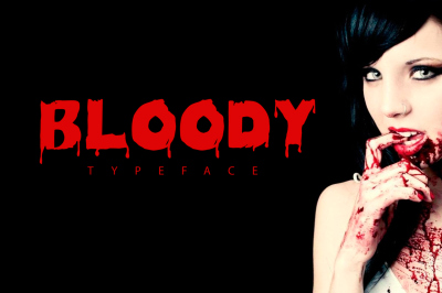 FREE Bloody Typeface