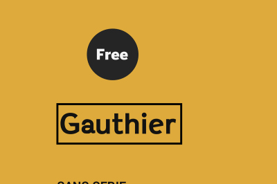 FREE Gauthier Typeface