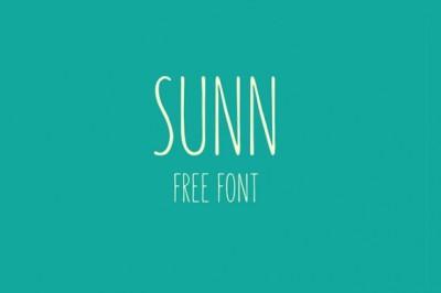 FREE Sunn font