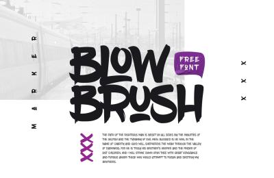 FREE Font: BlowBrush Typeface