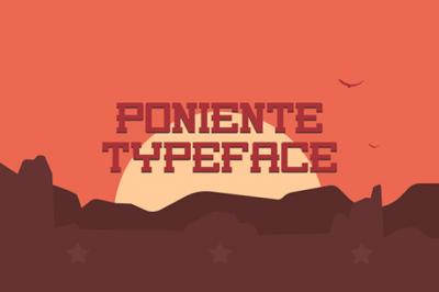 FREE Poniente Font