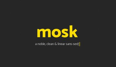 FREE Font: Mosk Typeface