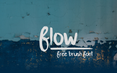 FREE Font: Flow Brush