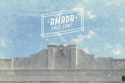 Free Font: Amada Typeface