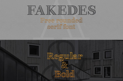 Free Font: Fakedes Typeface