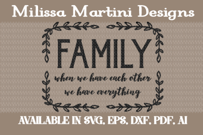FREE SVG Cut File: Family Sign