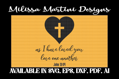 Free SVG File: As I Have Loved You