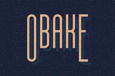 FREE Font: Obake