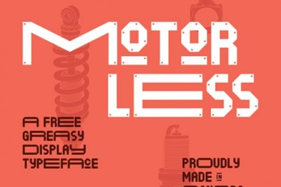 FREE Motorless font (personal use)