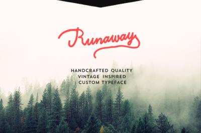 Free Font: Runaway Typeface