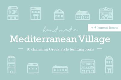 FREE Mediterranean Village Icons