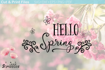 Free SVG File: Hello Spring