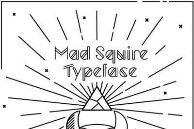 FREE Font: Mad Squire Typeface