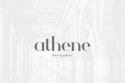 Free Font: Athene Typeface
