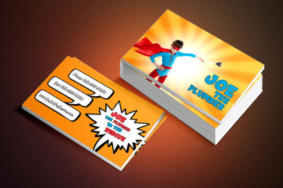3 FREE Superhero Business Cards for Kids