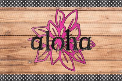 Free SVG File: Aloha
