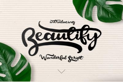 Free Font: Beautify Script