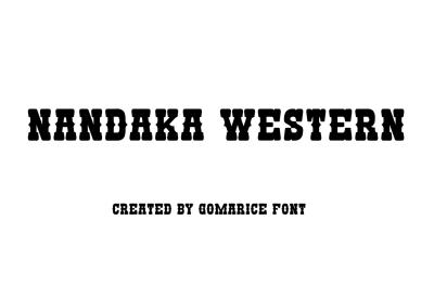 Free Font: Nandaka Western