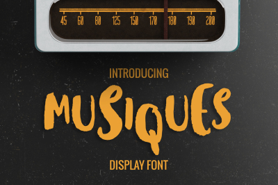 FREE Font: Musiques Display