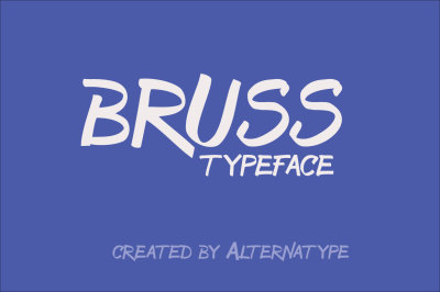 Free Font: Bruss Typeface