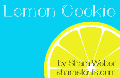 FREE Font: Lemon Cookie Typeface