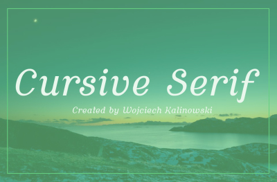 Free Font: Cursive Serif