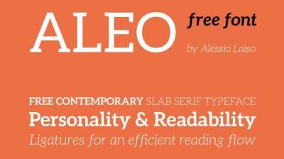 FREE Font: Aleo Family