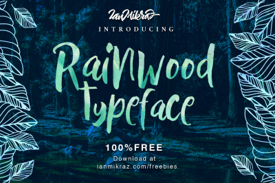 FREE Font: Rainwood Typeface