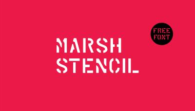 FREE Marsh Stencil font