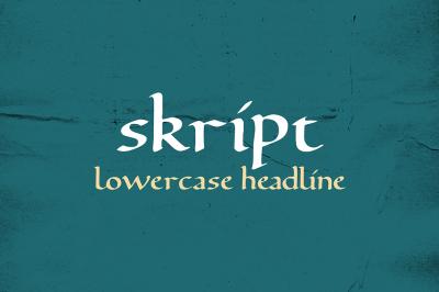 FREE Font: Skript - A Lowercase Headline Typeface