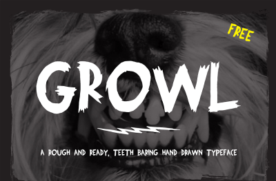 FREE Growl Font