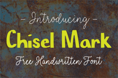 FREE Font: Chisel Mark